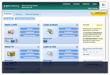Logitech harmony remote software download.